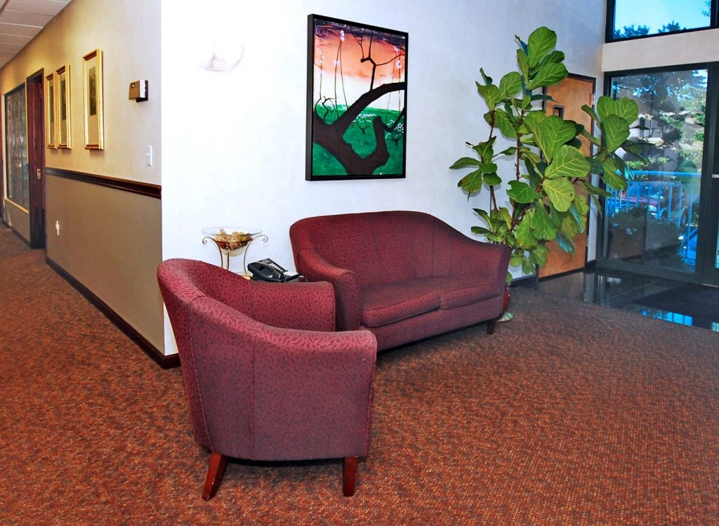 First Choice Executive Suites offers luxury offices - first floor lobby